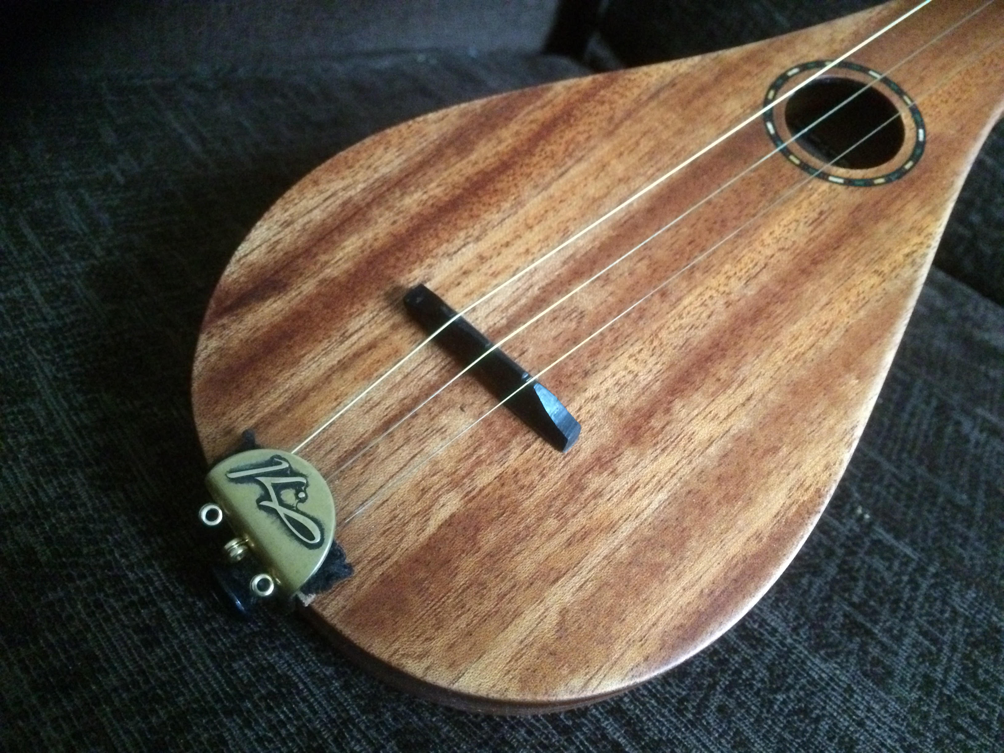 close up mahogany stick dulcimer